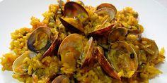 Estupendo y tradicional arroz alicantino con almejas. Un plato sano y delicioso.