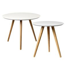 Bloomingville Bamboo Coffee Tables in White and Natural