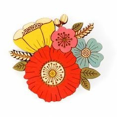 Poppy Posy Brooch | Ginger Pickle | Handmade Jewellery, Accessories, Homewares and Stationery made by UK designers.