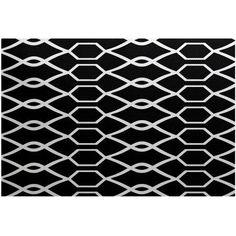 Simply Daisy 4' x 6' Charleston Geometric Print Indoor Rug, Black