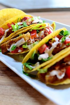 Chicken Bacon Ranch Tacos. Yum.