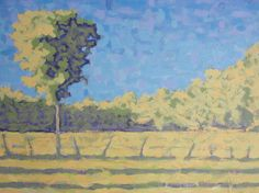 Lone Elm, Stephen Wysocki, MediumPainting - Acrylic On Canvas, June 8th, 2010, 30.000 x 30.000 inches