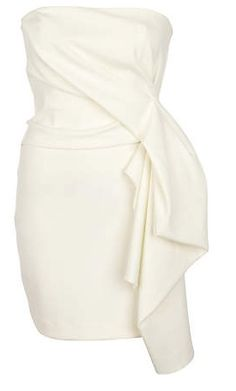 River Island white bandeau dress