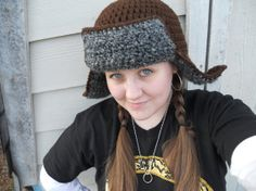 Bofur Inspired Crochet Hat from The Hobbit on Etsy, $35.00.   I could probably find a pattern, or figure it out myself.  @ Julia Nashie  It's kinda like the Fwuffy Hat.