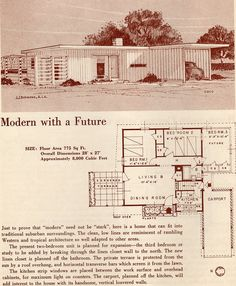 Modern with a Future: 1950 Your New Home | Flickr - Photo Sharing! 2/3 Bed, 1 Bath, Carport