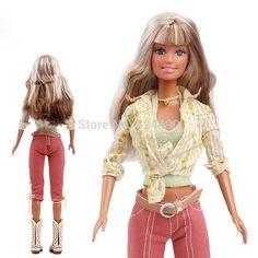 Aliexpress.com: Compre Cabelo loiro longo Original boneca articulada / botas de vaca menino com calças blusa Top Outfit acessórios para boneca Barbie de confiança cabelo simulação fornecedores em Wholesale Home's store