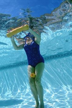 Exercising in deep water gives you a highly efficient aqua-aerobic workout. This is because the majority of your body is submerged -- when more of you has to move through water, more resistance is . Water Aerobic Exercises, Swimming Pool Exercises, Pool Workout, Aerobics Workout, Water Workouts, Arm Exercises, Swimming Videos, Swimming Drills, Swimming Workouts