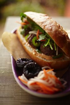Recipe Box: Vietnamese Turkey Meatball California Dried Plum Banh Mi Sandwich