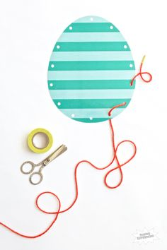 Free Printable Easter Egg Lacing Activity via @PagingSupermom