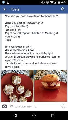 Slimming world scones, healthy extra