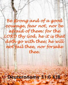 Deuteronomy 31:6 KJB