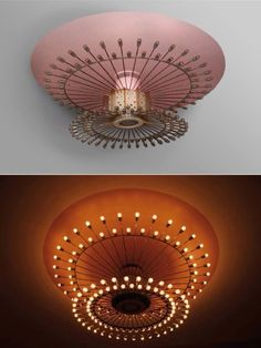 Wow! This fixture is fabulous. Atomic pink light fixture. cc5bd2a198e61b52c28a7048dd4fbdd8.jpg 670×892 pixels