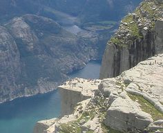 Pulpit Rock at Stavanger Fjord, Norway