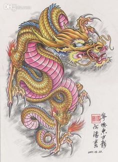 water color tattooes dragon chinese | The Dragon Tattoo Art Book Traditional…