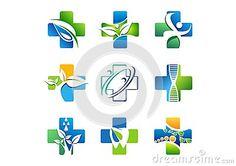 Medical pharmaceutical logotype, collection health medicine icons, set of plus icons and symbol natural herb vector design - http://www.dreamstime.com/stock-photography-image63425311#res7049373