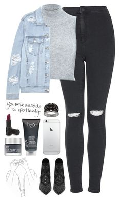 """""""F*ck Em Only We Know//Banks"""" by thelonelyheartsclub ❤ liked on Polyvore featuring Topshop, River Island, SJYP, Yves Saint Laurent, H2O+ and Bliss"""