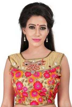 Beautiful Designer Handwork Blouse By Indian Vogue - Indian Vogue Saree blouse