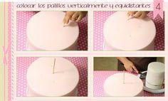 Yannies Cakes. Tartas Valencia : Cómo montar una tarta de fondant de dos pisos
