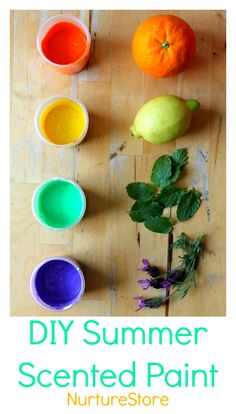 how to make scented paint :: homemade paint :: sensory painting activities :: summer sensory play