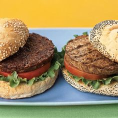 Lentil and Brown Rice Vegetarian Burgers Take a break from meat and try these vegetarian burgers. Best cooked in a non stick skillet on a medium low heat (to brown them and warm them through), these burgers are easy on the pocket and the waist line!
