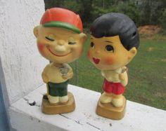 HAPPY KIDS BOBBLEHEAD Nodders zeldzame door UNIQUETREASUREFREAK