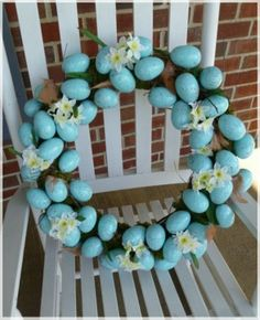 Ideas DIY Eggs Wreath for Easter Day -