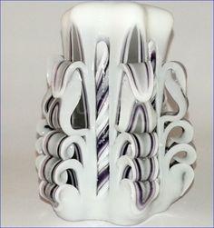 Řezaná svíčka bílofialová Napkin Rings, Napkins, Home Decor, Towels, Napkin, Interior Design, Home Interior Design, Napkin Holders, Home Decoration