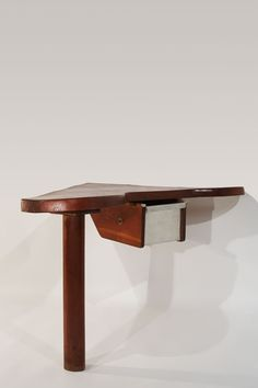 Charlotte Perriand; Wall-Mounted Desk, 1951.
