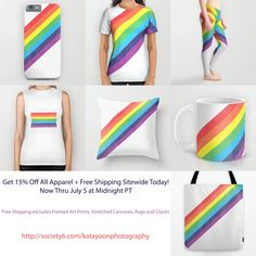 ***Time to treat yourself! Get 15% Off All Apparel + Free Shipping Sitewide Today, Now Thru July 5 at Midnight PT!*** *Free Shipping excludes Framed Art Prints, Stretched Canvases, Rugs and Clocks #freeshipping #specialoffer #discount #sale #deal #awesomedeal #pride #celebrate #celebration #decor #homedecor #decorideas #apparel #fashion #tee #leggings #accessories #case #cover #bathroom #bedroom #color #colour #design #photo #photography #art #artlovers #wallart #wearart #giftideas…