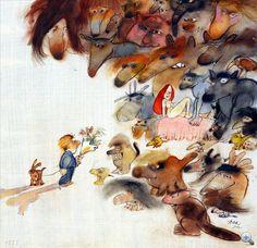 Sajdik Ferenc Moose Art, Painting, Animals, Illustrations, Animales, Animaux, Painting Art, Paintings, Illustration