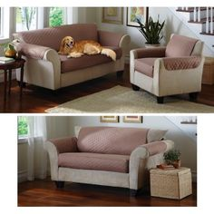 Waterproof Pet Furniture Protector Covers Taupe Loveseat By Collections Etc