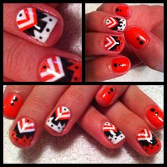 Aztec nail art