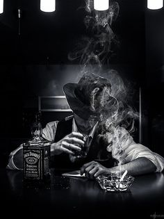 All things Jack Daniel's Film Noir Photography, Smoke Photography, Portrait Photography, Photography Ideas, Skull Wallpaper, Galaxy Wallpaper, Black White Photos, Black And White Photography, Smoke Art