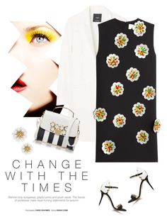 """""""Flowers"""" by lera-chyzh ❤ liked on Polyvore featuring MANGO, Victoria, Victoria Beckham, Charlotte Olympia, CharlotteOlympia, minidress, polyvoreeditorial and whitecoat"""