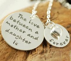 """""""The love between a mother and a daughter is forever.""""  I'm so thankful to have had my loving Mama for 43 years (until she died at age 68).  I know that she is with God now, but I miss her each and every day!!"""