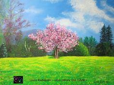 (¯`'•.Primavera.•'´¯) quadro dipinto a mano ad OLIO, 30x40 cm