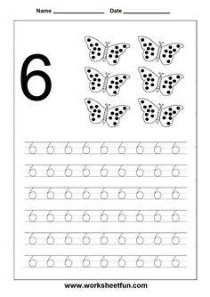 Number Tracing worksheet - 6
