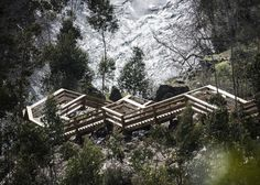 In the breathtaking lansdcape along the Paiva river in Portugal, Lisboa-based engineering firm Trimérica has designed a walkway that offers a unique experience for nature lovers. Walking Paths, Walking In Nature, Arouca Portugal, Portugal Travel, Wooden Walkways, Architectural Photographers, Pedestrian Bridge, Mountain Landscape, Landscape Architecture