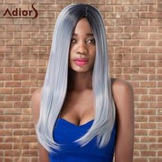 SHARE & Get it FREE | Adiors Long Side Parting Silky Straight Ombre Cosplay Synthetic WigFor Fashion Lovers only:80,000+ Items • FREE SHIPPING Join Twinkledeals: Get YOUR $50 NOW!