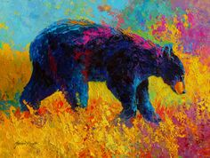Young And Restless - Black Bear Painting  - Young And Restless - Black Bear Fine Art Print