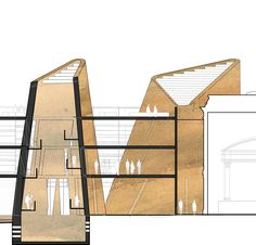 """Rammed earth """"stacks"""", inspired by the environmental system found in the termite world, has structured the Fremantle Kings Square competition entry. Another Western Australian project for Luigi Rosselli Architects. Project Team Kristina Sahleström Daniel..."""