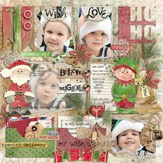 """A page by Julie using """"Simply Blocked   Merry & Bright"""" by Little Green Frog Designs and """"Believe 2"""" Collection by Dawn Inskip"""