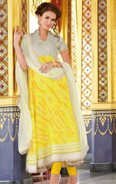 Picture of Ideal Deep off White and Gold Color Party Wear Salwar Suit