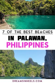 Complete guide to the best 7 paradise beaches in Palawan Philippines you must visit. Palawan is home to some of the most beautiful beaches in The Philippines. Check them out! Vietnam Travel, Thailand Travel, Asia Travel, Travel Tips, Travel Articles, Travel Advice, Travel Guides, Philippines Vacation, Philippines Beaches