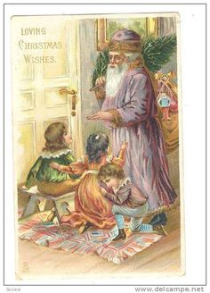Christmas; Purple Suit Santa Claus , 00-10s , #1 ; Tuck series 8376 Item number: 179639149 SCVIEW on Delcampe.com