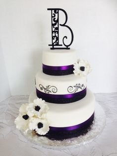 - Wedding Cake ... Raspberry Cake Flavor with Lemon Crème Filling Covered in Fondant with Gumpaste Flowers.