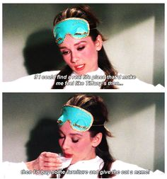 Audrey Hepburn in Breakfast At Tiffanys in 1961. Hahah Michael is always saying Poor Cat, Nameless slob! Then I quote this! Hahahah I have made him watch it too much.