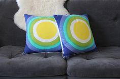 Vintage Vera Neumann Graphic Sun Pillow / Insert (LAST ONES)