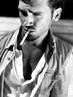 Cigarette Men, Men Smoking Cigarettes, Man Smoking, Hot Guys, Hot Men, Gorgeous Men, Vape, Leather Men, Cool Pictures