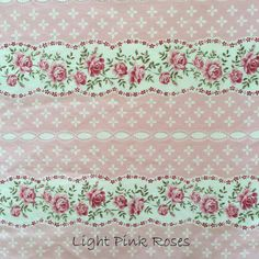 Light Pink Roses, coordinates with Light Blue Flowers and Light Pink Tiny Flowers